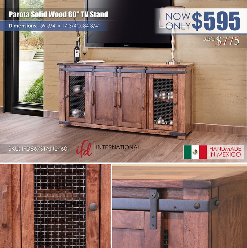 Parota Solid Wood 60in TV Stand_IFD867STAND-60_new