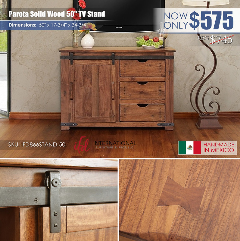 Parota Solid Wood 50in TV Stand_IFD866STAND-50