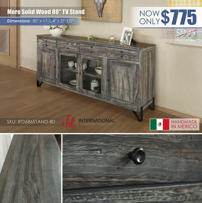 Moro Solid Wood 80in TV Stand_IFD686STAND-80