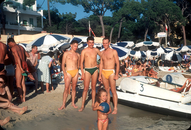 Pine Beach, Antibes, France — Early 1950s