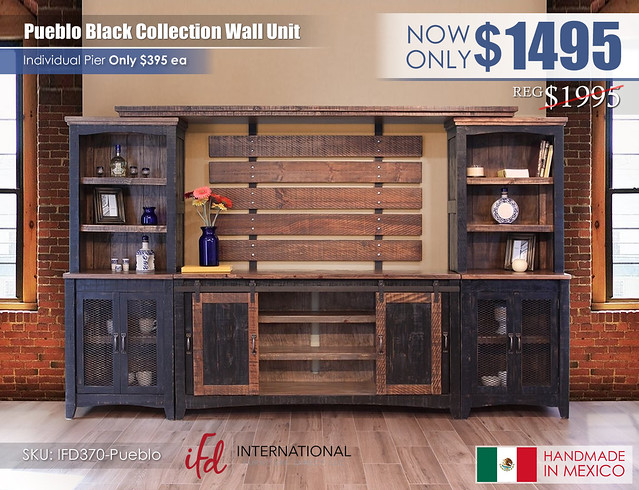 Pueblo Black Entertainment Wall Unit_IFD370-Pueblo