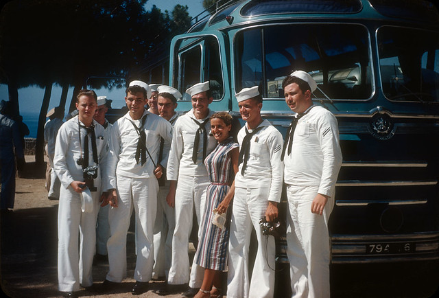 Sailors Arriving in Cannes, France — Early 1950s