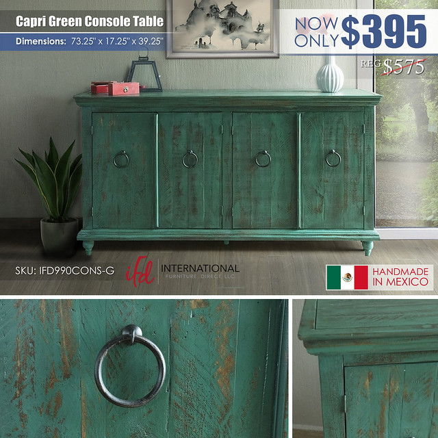 Capri Green Console Table_IFD990CONS_new