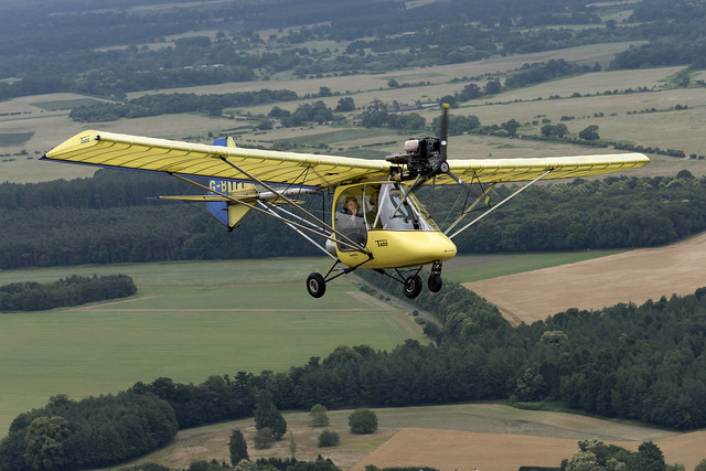 T600 G-BYPF Thruster microlight - air to air image
