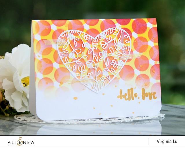 Altenew-BubbleWrapStencil-FloralHeartFramedie-Virginia#1