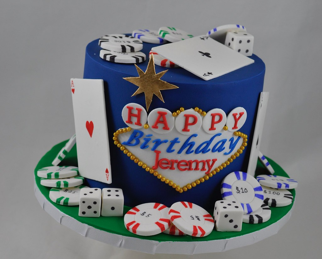 Awe Inspiring Casino Birthday Cake A Photo On Flickriver Personalised Birthday Cards Arneslily Jamesorg