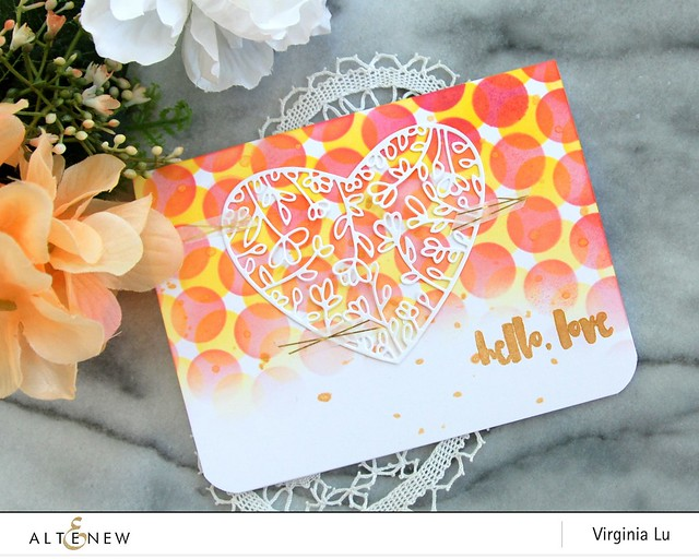 Altenew-BubbleWrapStencil-FloralHeartFramedie-Virginia#2