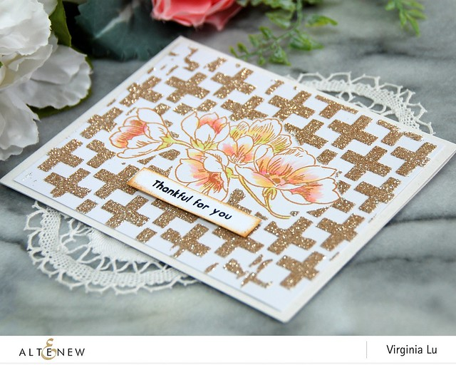 Altenew-OnthePlusSideStencil-PenSketchedFlowerStamp-Virginia#2