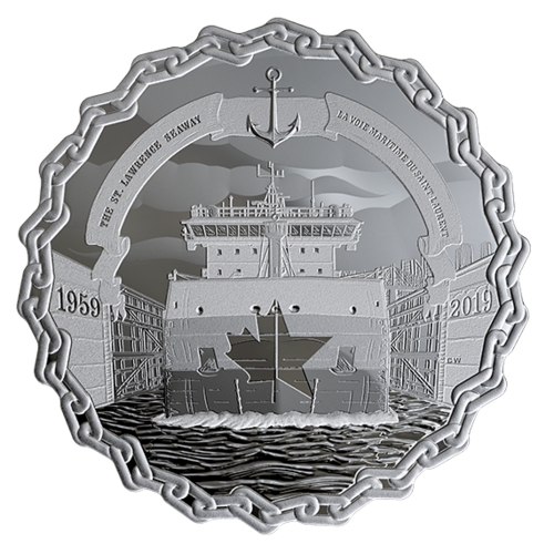 Saint Lawrence Seaway coin reverse