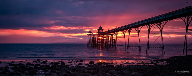 Sunset at Clevedon's Pier