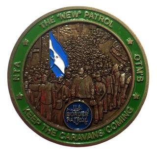 Border Patrol Caravan Challenge Coin obverse