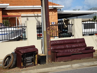 Abandoned Leather Couch