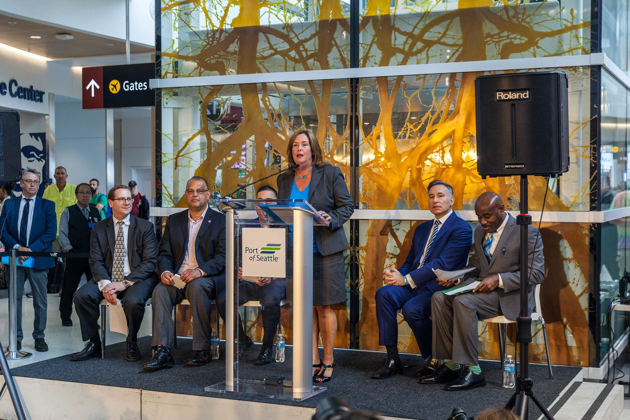 Grand Opening North Satellite Moderization Project Phase 1: Stephanie Bowman, Port of Seattle Commission President