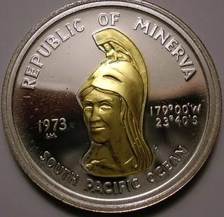 Republic of Minerva coin obverse