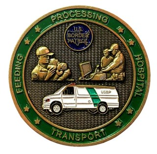 Border Patrol Caravan Challenge Coin reverse