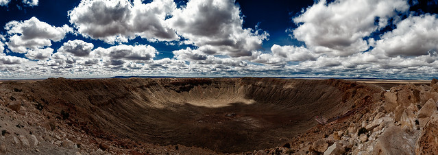 panorama. meteor crater, az. 2007.