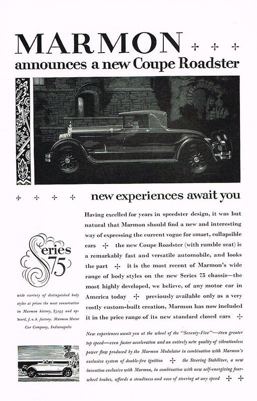 1926 Marmon Coupe Roadster