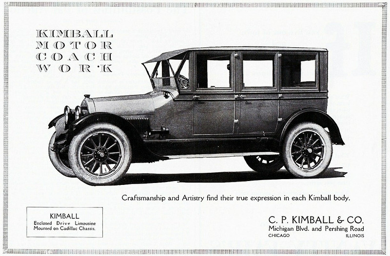 Kimball Enclosed Drive Limousine, Cadillac Chassis 1922