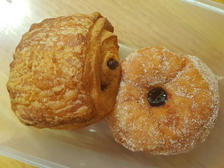 Pain au Chocolate and Jam Doughnut at Yavanna
