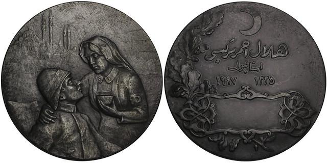 Red Crescent zinc Award Medal