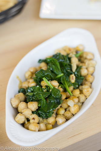 Spinach and Garbanzo beans, Riveria Tapas Bar, Riverdale MD | by AK_Wong