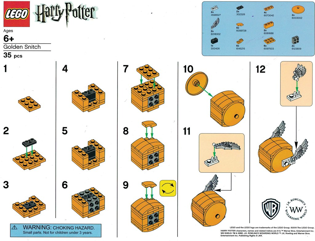 LEGO Harry Potter Barnes & Noble Golden Snitch