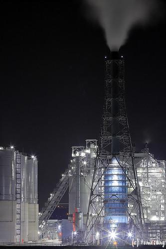 J-POWER Wakamatsu at Night