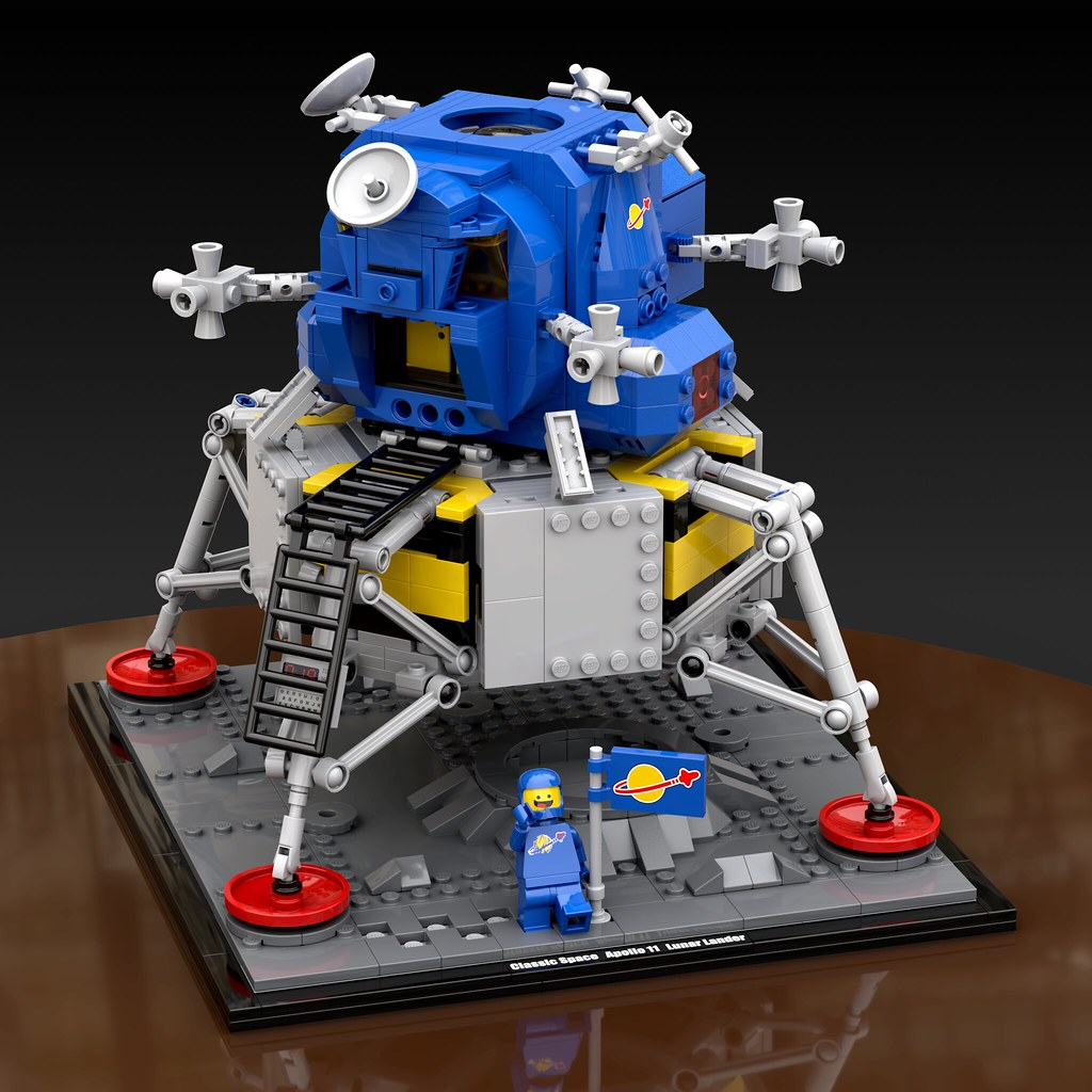 NASA Apollo 11 Lander Classic Space (custom built Lego model)