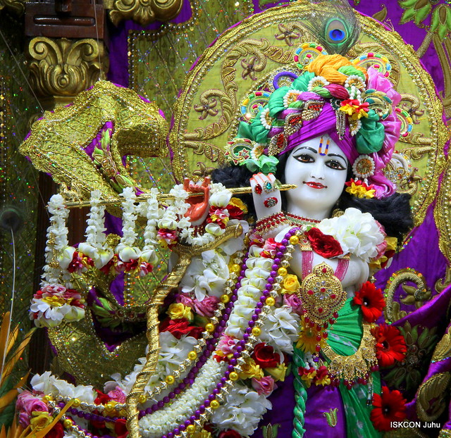 ISKCON Juhu Sringar Deity Darshan on 14th July 2019