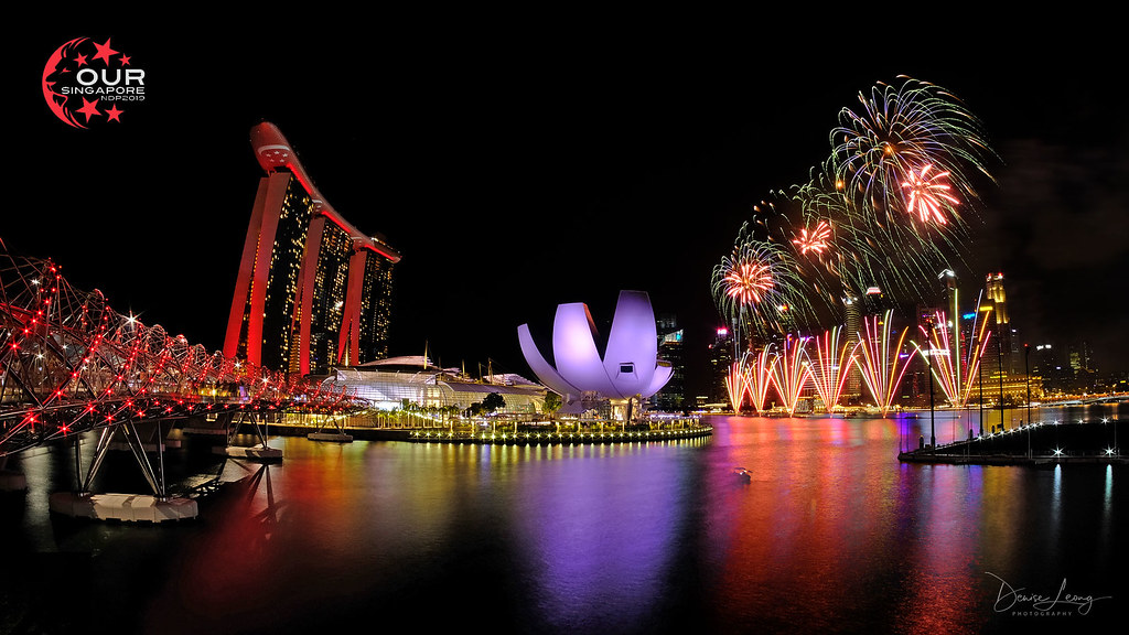 NDP 2019 NE2 Fireworks | Love the balance of MBS with the fi… | Flickr