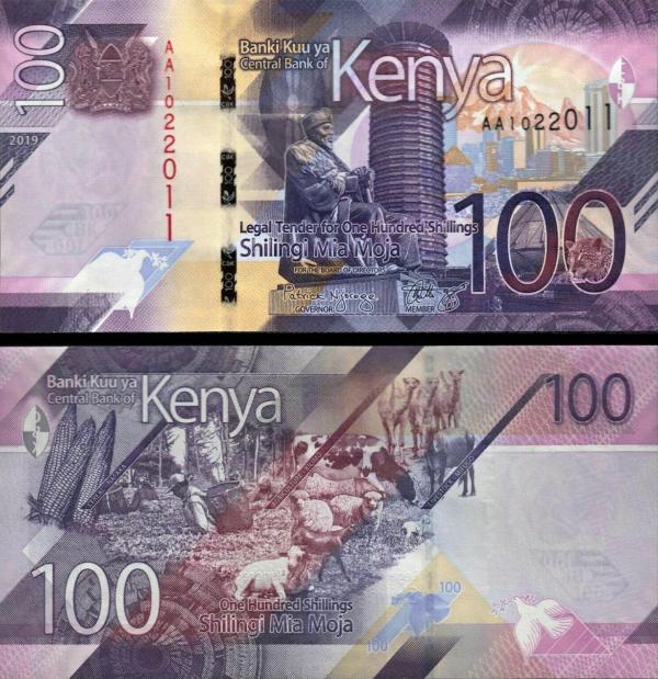 100 Šilingov Keňa 2019 Pnew