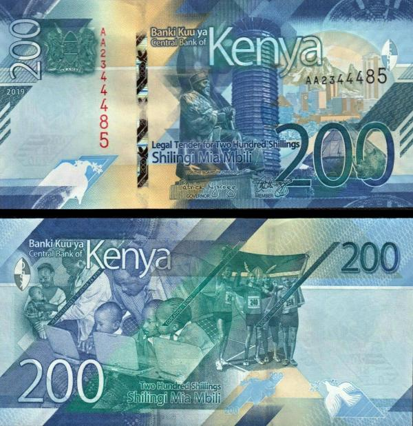 200 Šilingov Keňa 2019 Pnew