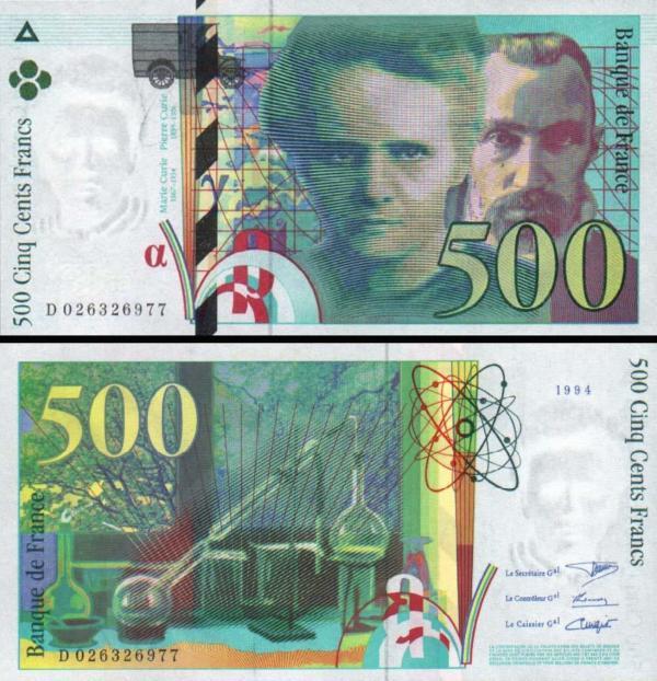 500 Frankov Francúzsko 1994, P160a