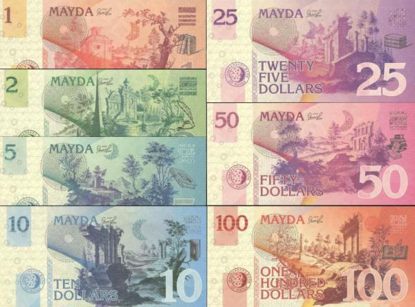 Mayda Island 1-100 Dollars 2017