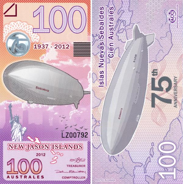 New Jason Islands 2012, 100 Australes Hindenburg