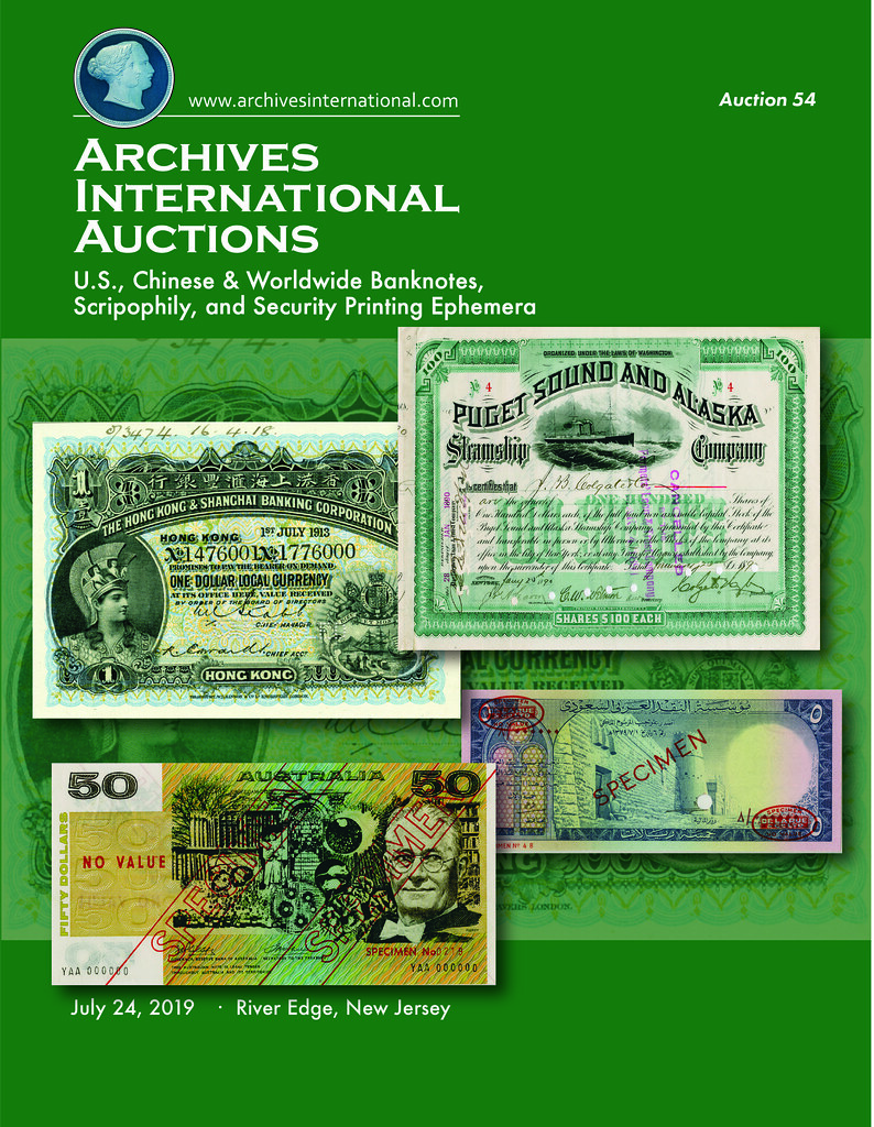 Archives International Sale 54 cover front