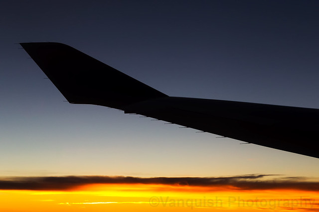 G-BYGC British Airways BOAC Livery B747-400 Inflight Sunset over Canada