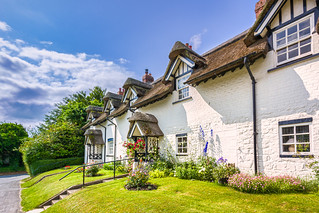 Thatched cottages at Warter