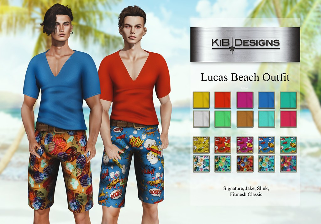 KiB Designs – Lucas Beach Outfit @Sense Event