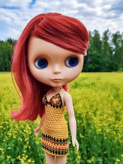 Rouge Noir, a girl from my endless wishlist is here! Yay! ❤🌼😍🌼❤ . #blythe #blytherougenoir #takara #takarablythe #crochet #crochetblytheclothes #crochetdollclothes