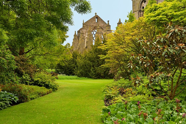 Edinburgh / Palace of Holyroodhouse / Private Garden / Holyrood Abbey
