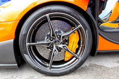 Mclaren Orange car wheel