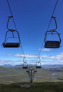 Summer days on a ski lift.