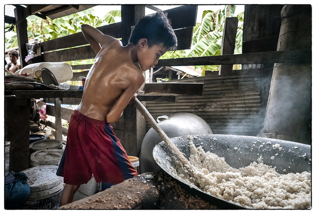 Cambodia, Kratie - Rice Whiskey family