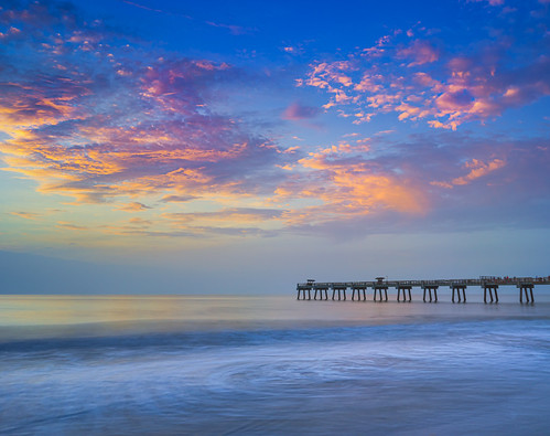florida jacksonvillebeach sunrise fishingpier