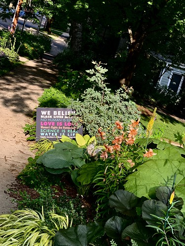 Garden with sign