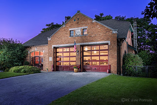 Fire Station Home Twilight