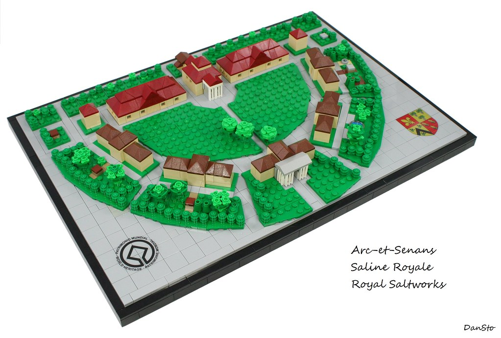 Royal Saltworks of Arc-et-Senans (custom built Lego model)