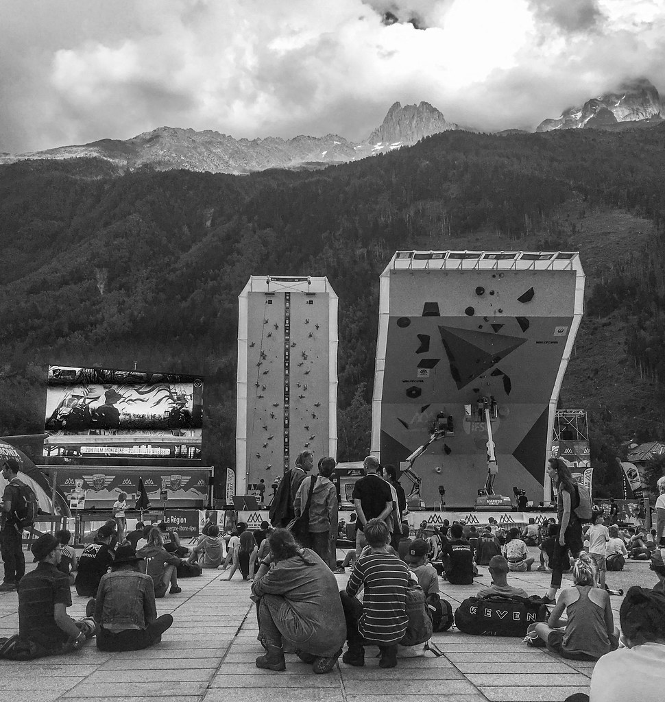 IFSC Climbing world cup in Chamonix - waiting for the speed climbing