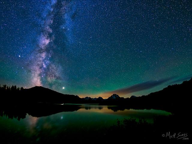 Milky Way Mt Moran Grand Tetons